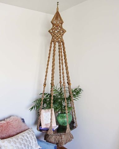 Vintage Macrame Hanging Table
