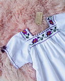 Vintage Mexican 70's  Embroidered Top: Alternate View #2