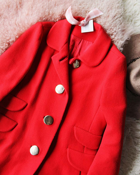 Vintage Ruby Car Coat: Featured Product Image