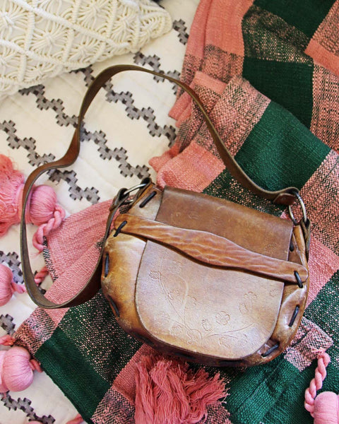 Vintage 70's Tooled Bag: Featured Product Image