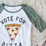 Vote for Pizza Tee: Alternate View #2