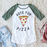 Vote for Pizza Tee: Alternate View #1