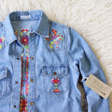 Wanderlust Embroidered Denim Top: Alternate View #4