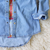 Wanderlust Embroidered Denim Top: Alternate View #5