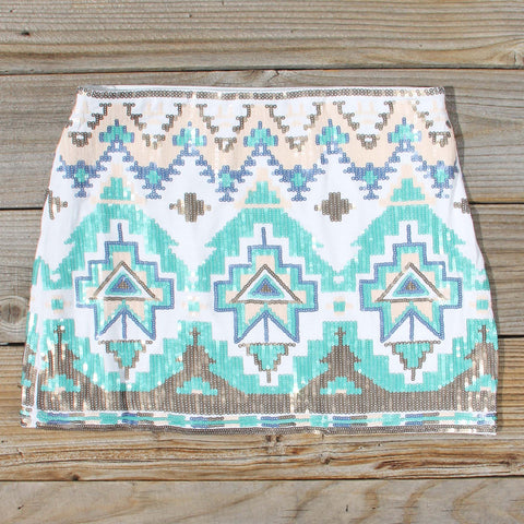 Waterloo Native Skirt in Turquoise