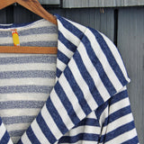 Wayfarer Stripe Hoodie in Navy: Alternate View #2