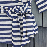 Wayfarer Stripe Hoodie in Navy: Alternate View #3