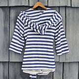 Wayfarer Stripe Hoodie in Navy: Alternate View #4