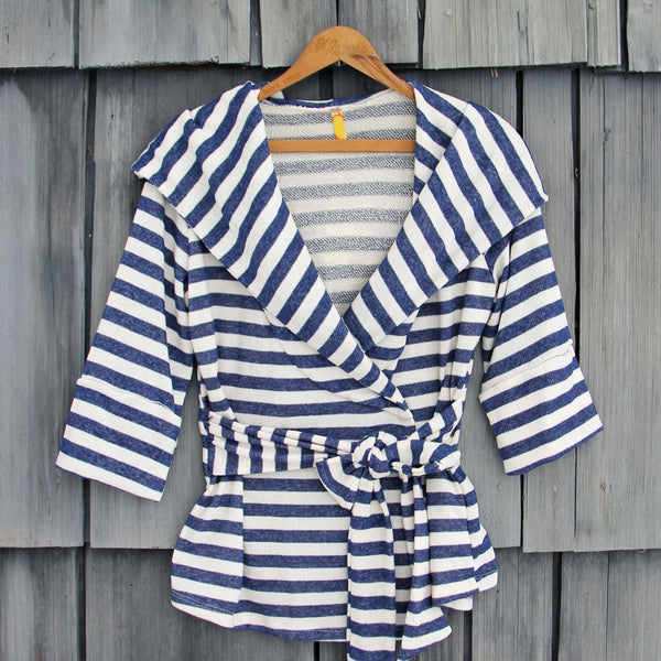 Wayfarer Stripe Hoodie in Navy: Featured Product Image