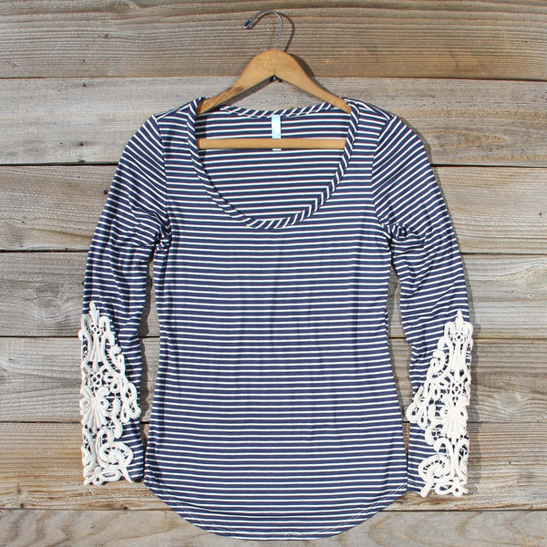 Sleepy Creek Lace Tee in Navy: Featured Product Image