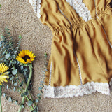 Whiskey & Rye Romper in Mustard: Alternate View #3