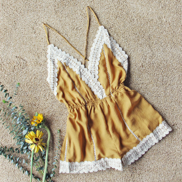 Whiskey & Rye Romper in Mustard: Featured Product Image