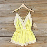 Whiskey & Rye Romper in Yellow: Alternate View #1
