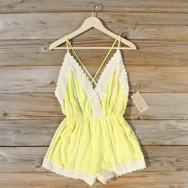 Whiskey & Rye Romper in Yellow: Featured Product Image