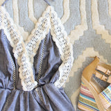 Whiskey & Rye Romper in Chambray: Alternate View #2