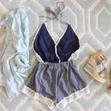 Whiskey & Rye Romper in Chambray: Alternate View #4