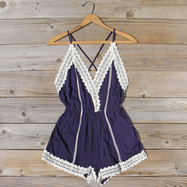 Whiskey & Rye Romper in Navy: Featured Product Image