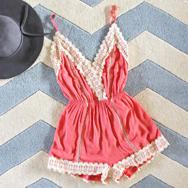 Whiskey & Rye Romper in Peony: Featured Product Image