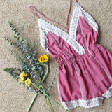 Whiskey & Rye Romper in Rose: Alternate View #2