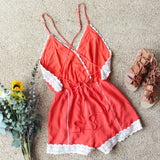 Whiskey & Rye Romper in Rust: Alternate View #4