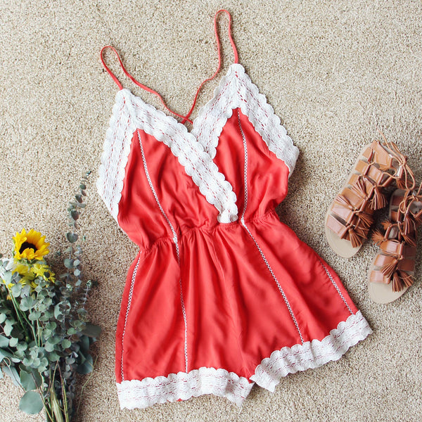 Whiskey & Rye Romper in Rust: Featured Product Image