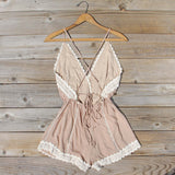 Whiskey & Rye Romper in Sand: Alternate View #4