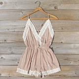 Whiskey & Rye Romper in Sand: Alternate View #1