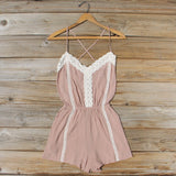 Whiskey & Rye Romper in Taupe: Alternate View #1