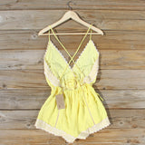 Whiskey & Rye Romper in Yellow: Alternate View #4