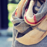 Birch Bark Plaid Scarf: Alternate View #2