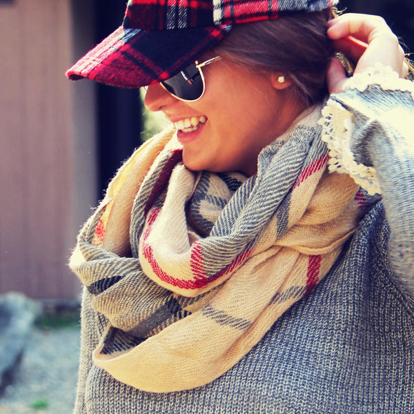 Birch Bark Plaid Scarf: Featured Product Image
