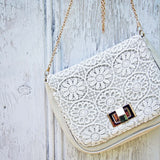 White Lilac Lace Tote: Alternate View #2