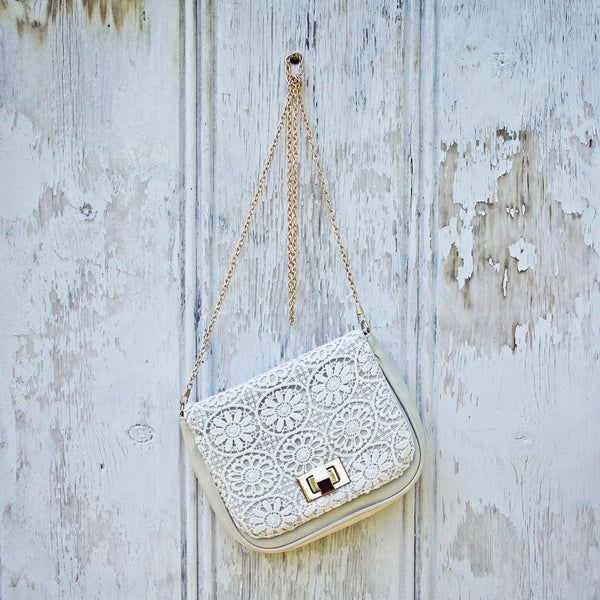 White Lilac Lace Tote: Featured Product Image