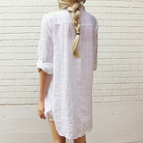 White Sage Shirt Dress: Alternate View #4