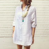 White Sage Shirt Dress: Alternate View #3