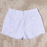 White Sands Distressed Shorts: Alternate View #4