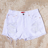 White Sands Distressed Shorts: Alternate View #2