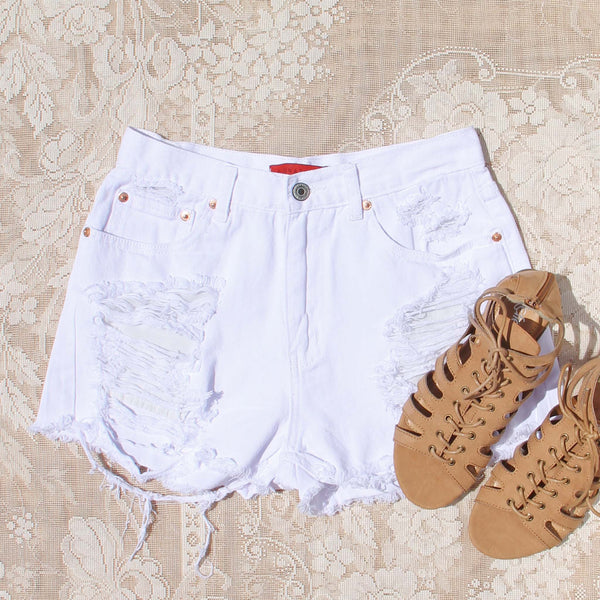 White Sands Distressed Shorts: Featured Product Image