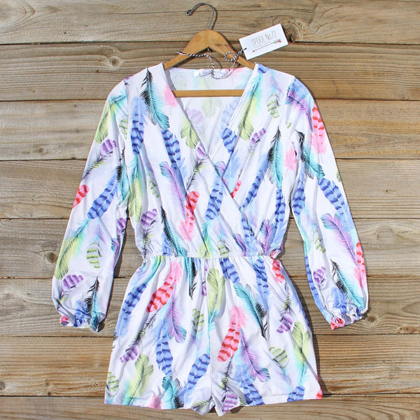Wild Feather Romper: Featured Product Image