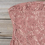 Wild Horses Lace Dress in Dusty Pink: Alternate View #2