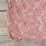 Wild Horses Lace Dress in Dusty Pink: Alternate View #3