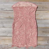 Wild Horses Lace Dress in Dusty Pink: Alternate View #4