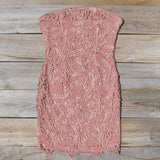 Wild Horses Lace Dress in Dusty Pink: Alternate View #1