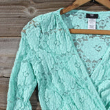 Wild Lace Dress in Mint: Alternate View #2