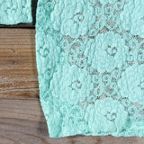 Wild Lace Dress in Mint: Alternate View #3