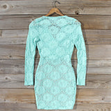 Wild Lace Dress in Mint: Alternate View #4