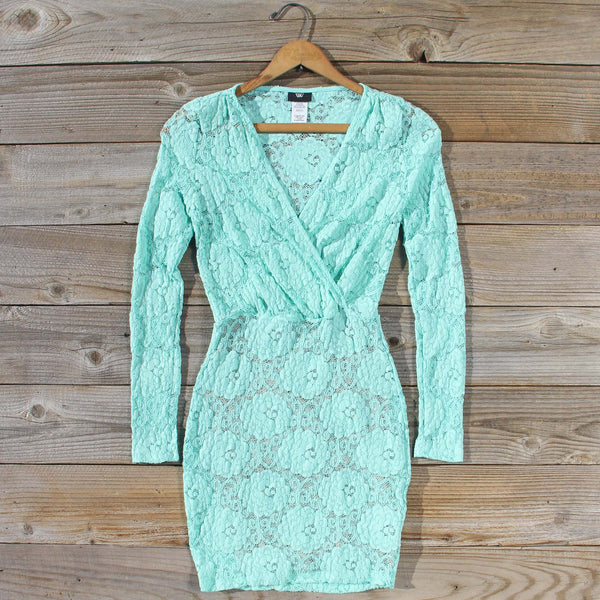 Wild Lace Dress in Mint: Featured Product Image