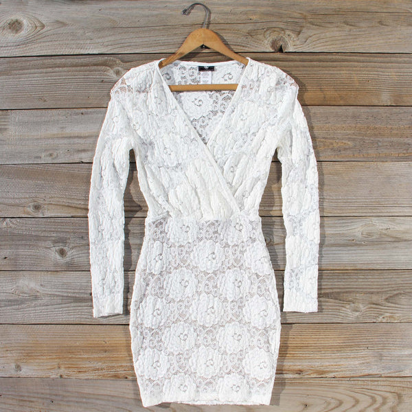 Wild Lace Dress in White: Featured Product Image