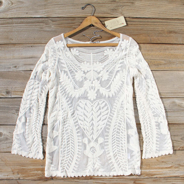 Wild & Myth Lace Blouse: Featured Product Image