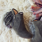 Wild Olive Fringe Booties: Alternate View #2